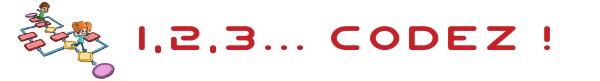 Logo du projet « 1, 2, 3… codez ! » vise à initier élèves et enseignants aux sciences informatiques, de la maternelle au collège.